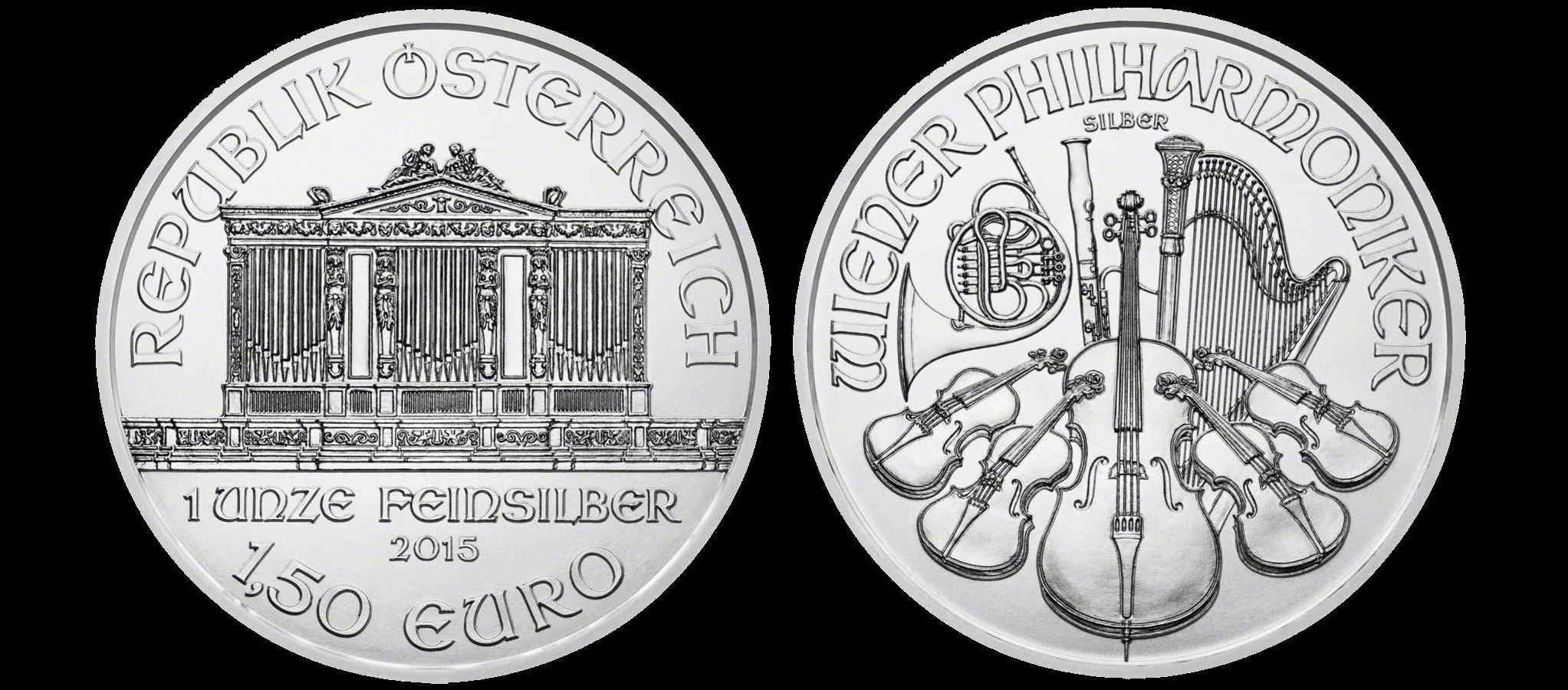 (Random year) 1 Oz silver Philharmonic Austria  Front